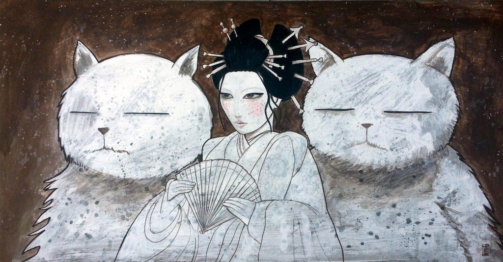 Geisha and Cats