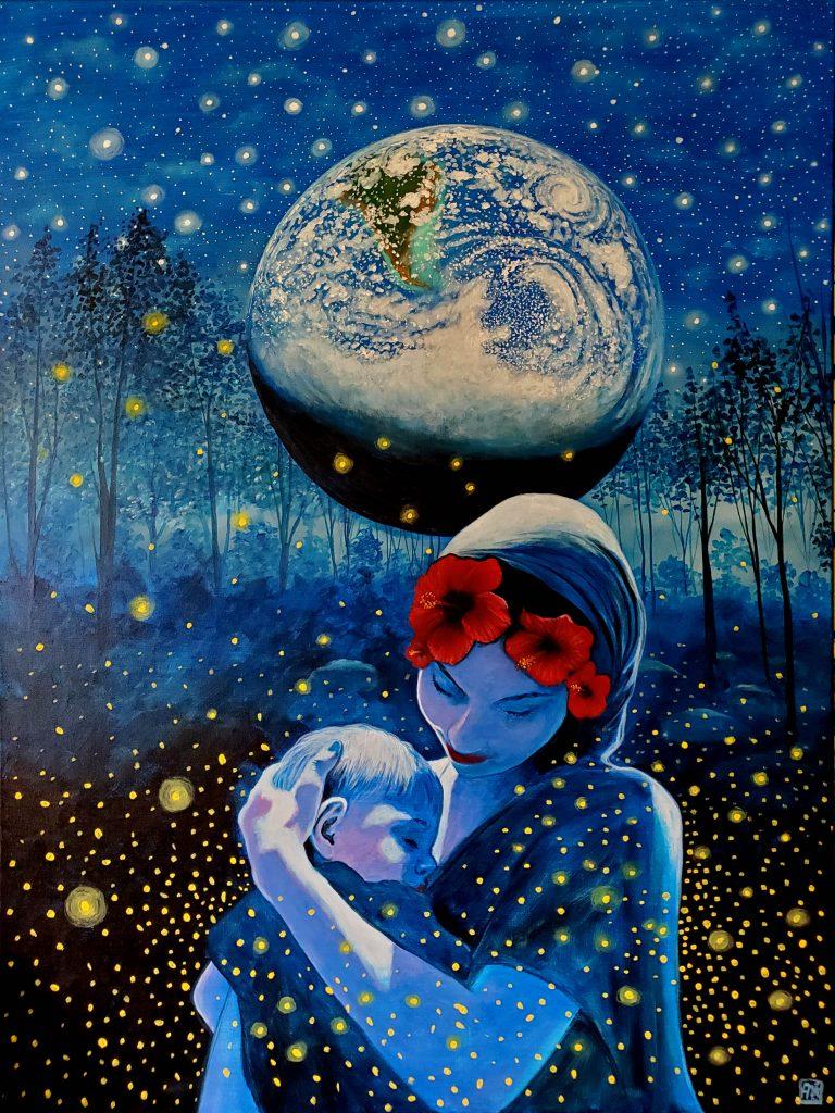 Earth Consciousness 16 by Carlos Aleman