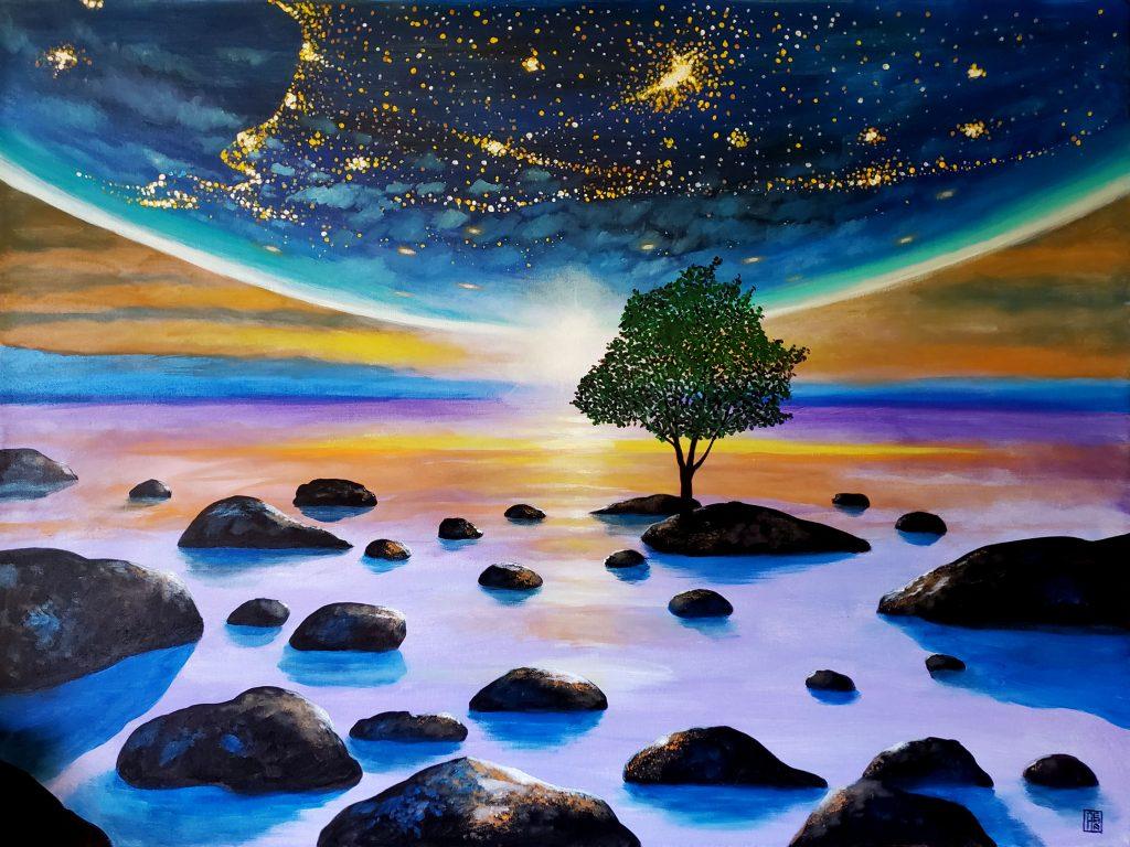Earth Consciousness 17 by Carlos Aleman
