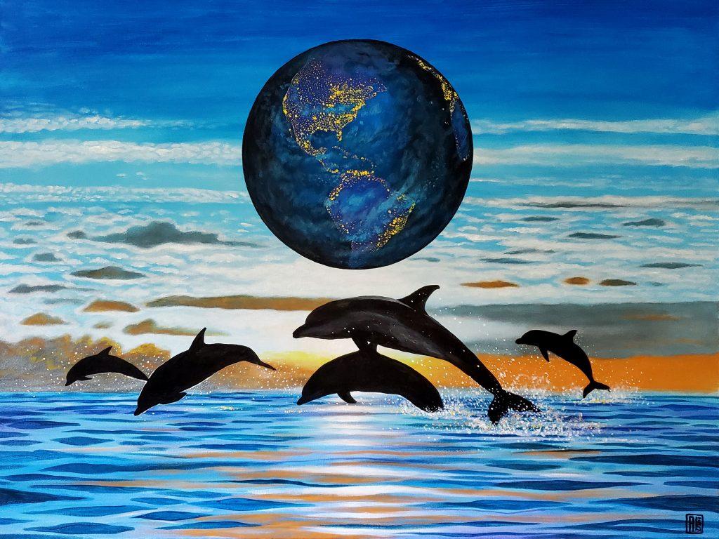 Earth Consciousness 18 by Carlos Aleman